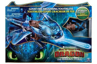 How to Train Your Dragon Hidden World Giant Fire Breathing Toothless