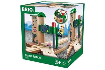 Brio World Signal Trains Station 2pc