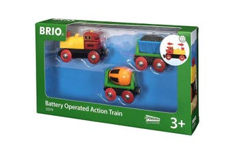 Brio World Battery Operated Action Train 3pc
