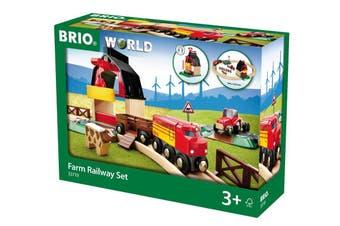 Brio World Farm Railway Train Set 20pc