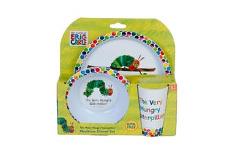 Very Hungry Caterpillar 3 Piece Dinner Set BPA Free Plate