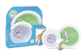 Peter Rabbit 3 Piece Mealtime Dinner Set BPA Free Plate
