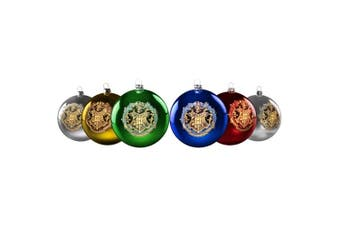 Harry Potter Crest Christmas Bauble Ornaments (Set of 6)