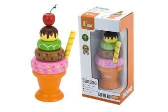 Viga Wooden Pretend Toys Food Icecream Sundae