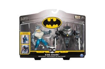 DC Batman Mega Gear King Shark Deluxe Action 4-Inch Figure