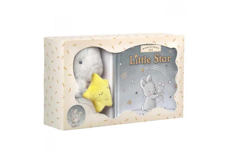 Bunnies By The Bay Gift Set Cricket Island Little Star Book & Bloom Plush