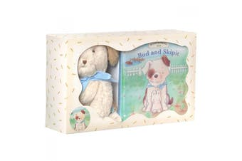 Bunnies By The Bay Gift Set Cricket Island Bud And Skipit Book & Plush