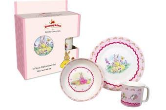 Bunnykins 3 Piece Melamine Set Sweethearts Design Baby Feeding Set