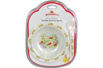 Bunnykins Melamine Suction Bowl & Spoon Feeding Set (Swim)