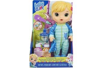 Baby Alive Mix My Medicine Baby Doll Blonde Hair Kitty-Cat Pajamas