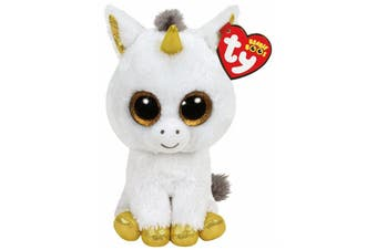 "TY Beanie Boos Regular 6"" - Pegasus the white Unicorn"