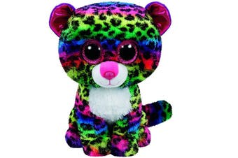 "Ty Beanie Boos Regular 6"" - Dotty the Multicoloured Leopard Plush"