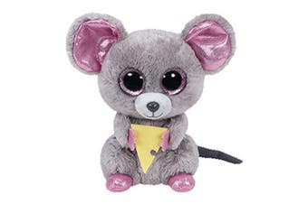 "TY Beanie Boos Regular 6"" - Squeaker Mouse with Cheese Plush"
