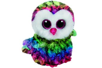 "Ty Beanie Boos Medium 9"" - Owen Multicolour Owl Plush"