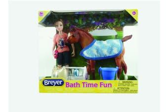 Breyer Horses Classics Bath Time Fun Doll and Pony Activity Set 1:12 SCALE
