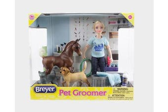 Breyer Horse Classics Pet Groomer Doll and Animals Set 1:12 SCALE