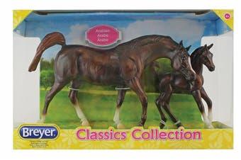 Breyer Classics Chestnut Arabian & Foal 1:12 SCALE Horse