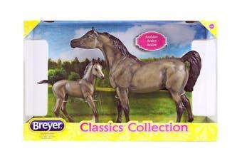 Breyer Classics Grey Arabian and Foal 1:12 SCALE Horse