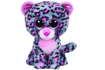 "TY Beanie Boos Regular 6"" - Tasha The Grey and Pink Leopard Plush"