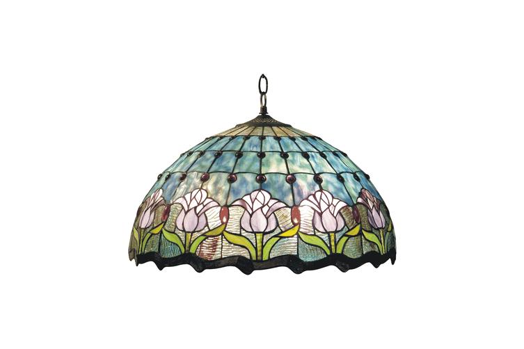 Mauve Tulip Tiffany Pendant