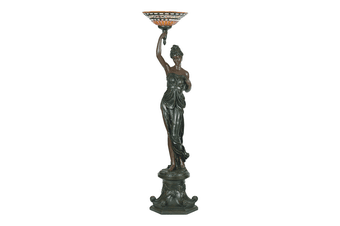 Greek Goddess Right Art Deco Floor Lamp