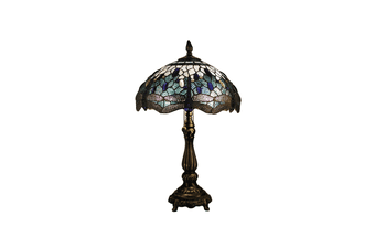 Blue Dragonfly Leadlight Tiffany Table Lamp