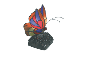 Red Butterfly Tiffany Table Lamp