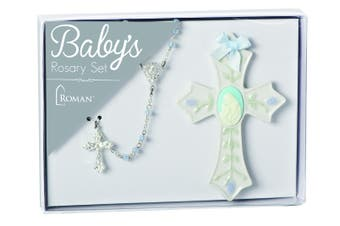 Roman Inc - Baby's First Rosary Set - Blue