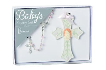 Roman Inc - Baby's First Rosary Set - Pink