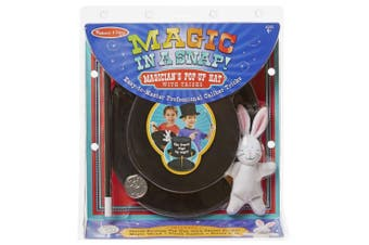 Melissa & Doug - Magic in a Snap! Magician's Pop-Up Magical Hat with Tricks