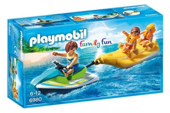 Playmobil Family Fun - Personal Watercraft with Banana Boat