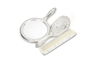 Whitehill Baby - Silverplated Child Brush, Comb And Mirror Set