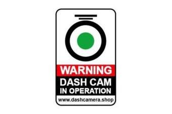 Dash Cam Warning Surveillance Sticker