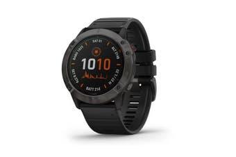 Garmin Fenix 6X Pro Solar GPS Watch - Titanium Carbon Grey DLC With Black Band