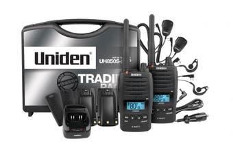 Uniden UH850S-2TP Tradie Pack (2 Radios) 5 Watt Rugged Handheld CB Handheld