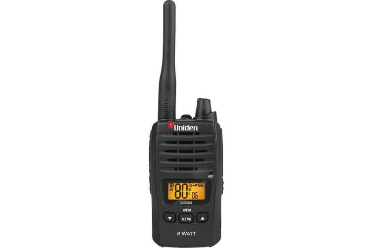 Uniden UH820S-2TP Tradie Pack (2 Radios) 80 Channel UHF CB Handheld Radio