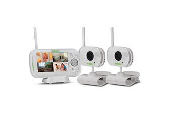 Uniden BW3102R Dual Camera Digital Wireless Baby Video Monitor With App Dock