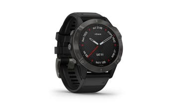 Garmin Fenix 6 Sapphire - Carbon Grey With Black Band