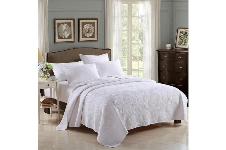 Super King Bed 250x270cm Palm Leaves, What Size Is A Super King Bedspread