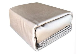 Luxury 400TC Bamboo Cotton Sateen Fitted Sheet Set Linen Mega King Size Bed