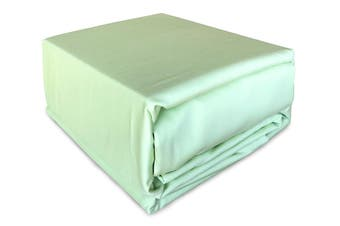 Luxury 400TC Bamboo Cotton Sateen Fitted Sheet Set Mint Queen Size Bed