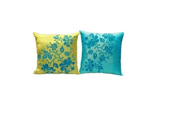 Silk Cushion Cover Decorative Pillows Decorative Cushion Throw Pillow Yellow Blue CushionBedroom Boho Decor