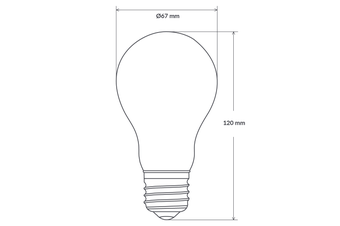 14W GLS Dimmable LED Bulb (E27) in Warm White