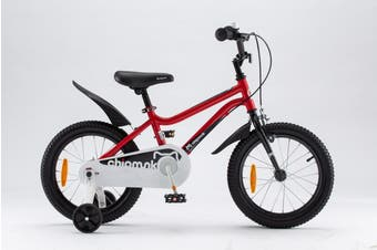 Chipmunk RoyalBaby 14 inch Kids Bike for Girls and Boys,incl Training Wheels Red