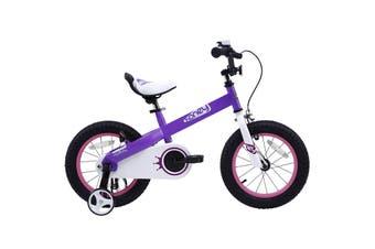 RoyalBaby 16'' Honey Kids Bike, Boy's Bikes and Girl's Bikes with Training Wheels,  Bell, Gifts for Children, 16 inch Wheels,Purple