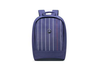"Delsey Securban 13"" Laptop Backpack - Blue Printed"