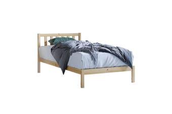 Drusa Solid Pine Timber King Single Bed Frame - Natural