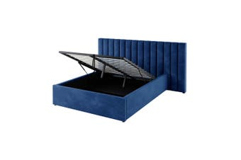 Aquila Headboard & Fabia Bed Base Package Double - Blue