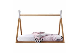 Helena Teepee Pine Timber Single Bed For Kids - Natural