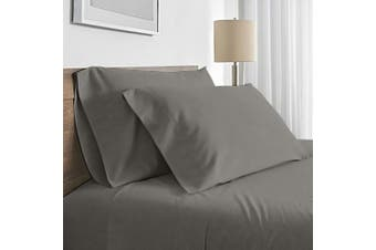 Valeria 1000TC Ultra Soft King Single Bed Sheet Set - Grey